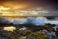 First Light at Ahalanui - Puna Coast, Big Island, Hawaii (PatrickSmithPhotography) Tags: ocean light sea usa seascape reflection water sunrise landscape hawaii lava unitedstates wave bigisland tidepool puna ahalanui pualaa photocontesttnc11