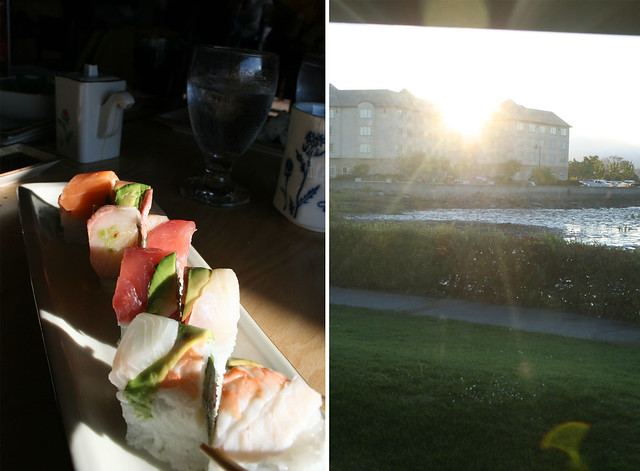 rainbow roll & sunset