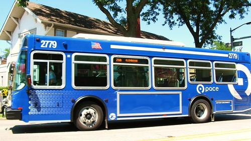 Southbound Pace N.A.B.I  bus on Waukegan Road. Glenview Illinois. wednsday, August 11th, 2010. by Eddie from Chicago