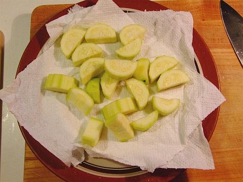 prepared zucchini