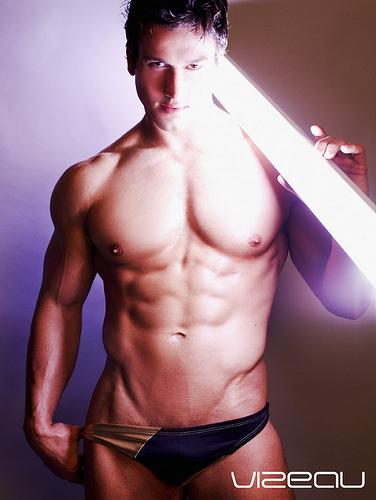 muscle shirtless underwear Male Model