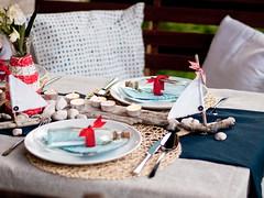 Sailors Table setting (dominstil) Tags: blue summer white inspiration home breakfast dinner table pretty do room romantic dining homestyle ideas yourself doityourself settings inspirations homedesign tablesettings