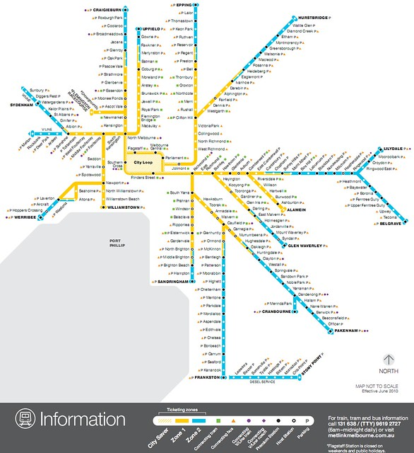 Train map as at August 2010