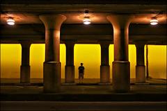 saint paul minnesota downtown tunnel (Dan Anderson.) Tags: street city railroad minnesota yellow night lights scary downtown tracks stpaul rr tunnel twincities saintpaul creepers mn sibleystreet shepardroad warnerroad sibleyunderpass