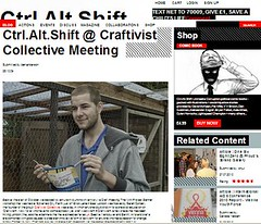 Ctrl Alt Shift review of one of our events (craftivist collective) Tags: media blogs magazines picapica craftivism rwd ameliasmagazine ukdiy runriot ctrlaltshift iamcherrygirl craftivistcollective mrxstitchwebsite