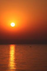 Arabian Sunset (amee@work) Tags: november sunset sea sun india rooftop home evening boat fisherman view terrace bombay arabian mumbai 2008 amee canon40d