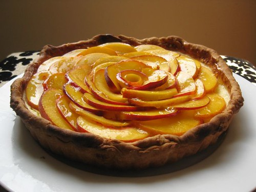 Fresh Peach Cheesecake Tart