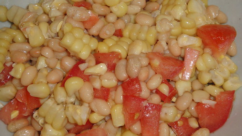 Corn and white bean salad