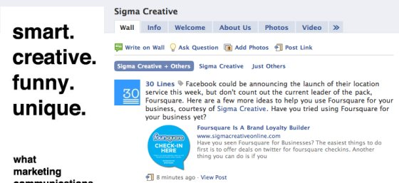 Tagging a business Page on Facebook