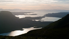 Beinn Damh Sunset View (James Trickey) Tags: sunset sky lake mountains green water landscape scotland ross scenery torridon wester liathach damh beinn eighe