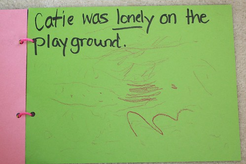 """Catie was lonely on the playground"""