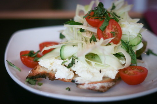 Summer salad crostini