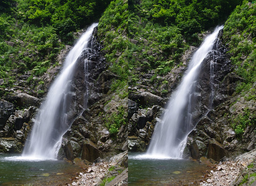 The third fall of Anmon falls, 3D prallel view