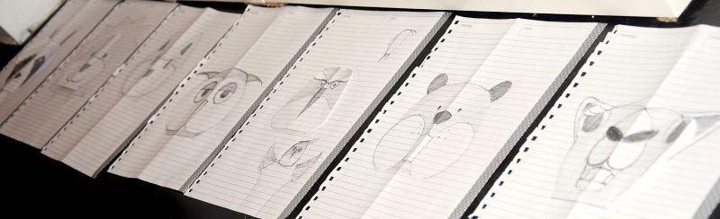 Axenroos, de schetsen