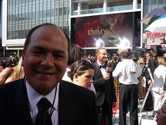 Greg Hernandez on red carpet at 2008 Emmys