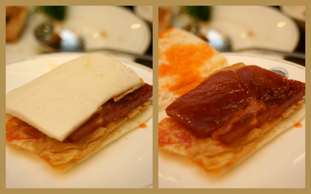 Honeyed ham with crispy beancurd sheet wrapped in bread
