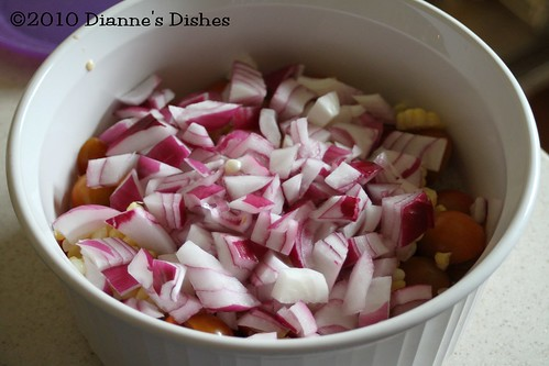 Summer Time Mexican Rice: Red Onion