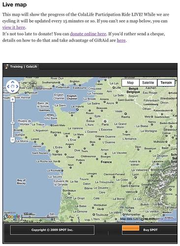 Live SPOT map