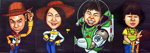 Toy Story 3 family  caricatures