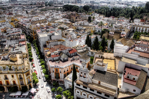 Seville viewed from the Giralda. Sevilla vista desde la Giralda