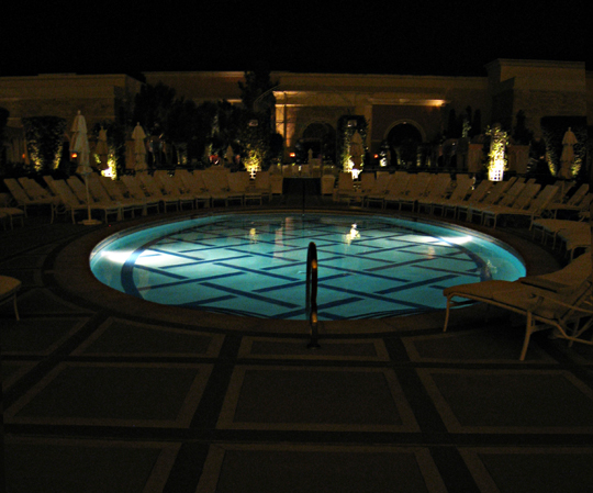 Wynn Pool at night
