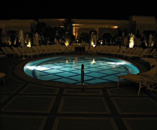 Wynn Pool at night