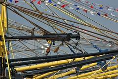 laadbomen (Jan-vdK) Tags: bomen raw trawler mossel vissersboot schip vlaggetjesdag ruim havendag mosseldag katrol mosselboot mosselkwekerij laadbomen