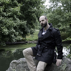 Trench Project-3 (The Octothorpe) Tags: bear portrait umbrella self beard outdoors backyard connecticut coat greenwich sunday clothes accessories burberry 2010 davek sartorial sartorialsunday croppedtrench