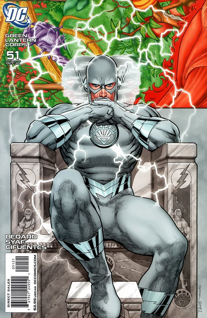 Ryan Sook White Lantern Professor Zoom variant cover from Green Lantern Corps 51