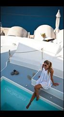 santo-sophie-rini (Theo_G) Tags: blue sea summer white pool swimming aegean santorini greece caldera cyclades thira imerovigli greekisland sigma1770mm canon400d