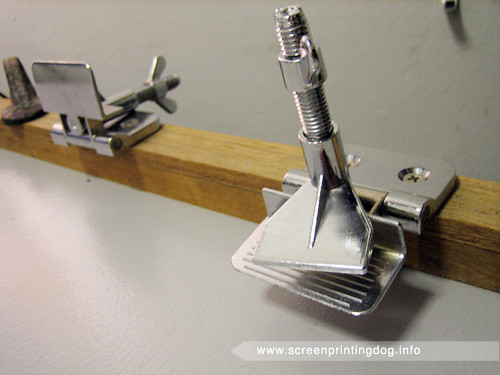 screen printing press jiffy clamps