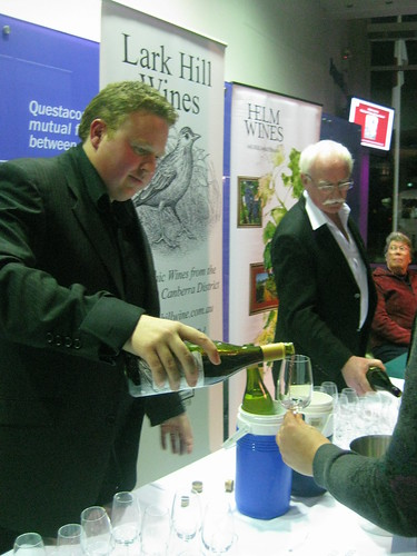 Lark Hill and Helm Wines at Questacon