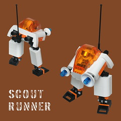 Mars Mission Scout Runner (pasukaru76) Tags: lego scout walker runner mecha moc canon100mm marsmission