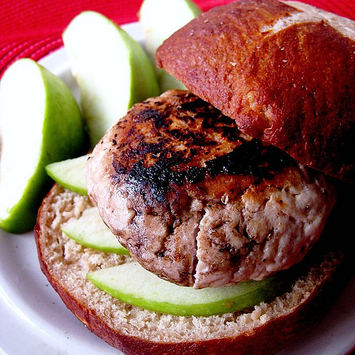 Brie and Granny Smith Burgers Eats Well With Others