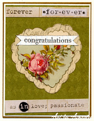 Vintage style anniversary card