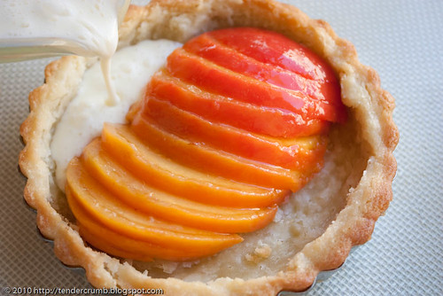crunchy and custardy peach tart-5