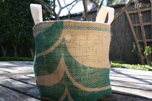 coffee sack bucket
