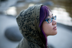 (Fenchurch!) Tags: skulls glasses hoodie purplehair fenchurch