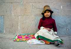 Stranger #101 - Angelica (Universal Stopping Point) Tags: charity peru girl hat cuzco candy cusco blanket begging childbeggar 2portrait 100strangers childpoor