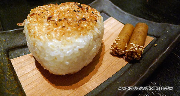 Grilled riceball
