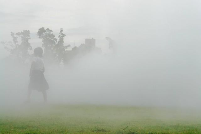 """Fujiko Nakaya """"fog sculptures"""" at YCAM, Yamaguchi city, Japan"""