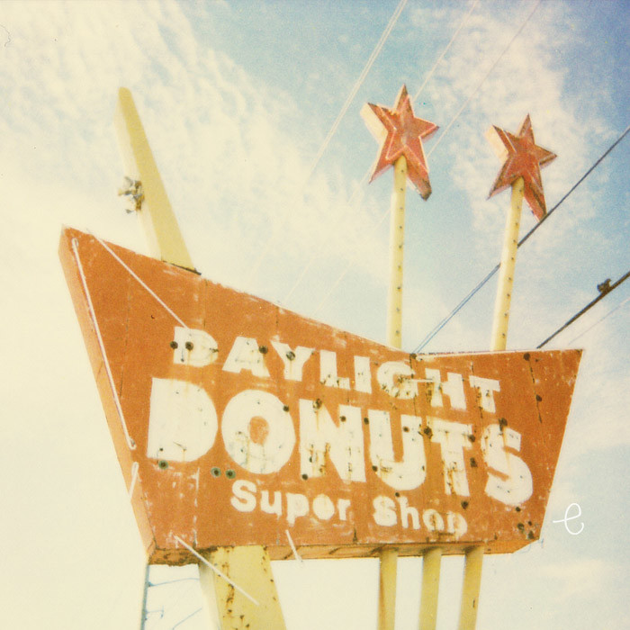 daylight donuts polaroid