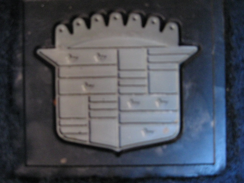 Detail of Cadillac floor mat