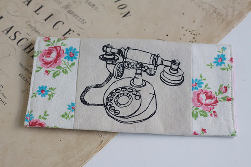 rose phone purse