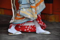 Sandals on Stone (_Codename_) Tags: feet japan kyoto shoes maiko geisha 2010