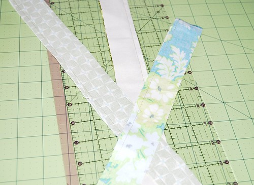 chubby stars - strip piecing