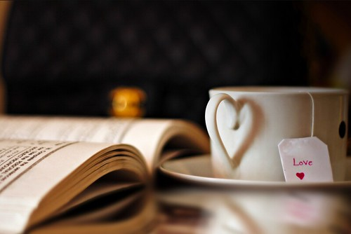 simple pleasures, tea and a good book, via M Al-Ahmadi