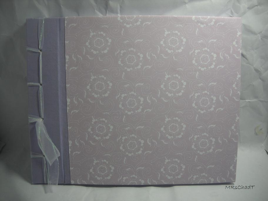 Lavander Rose Wedding Autograph Flip Album Guest Book