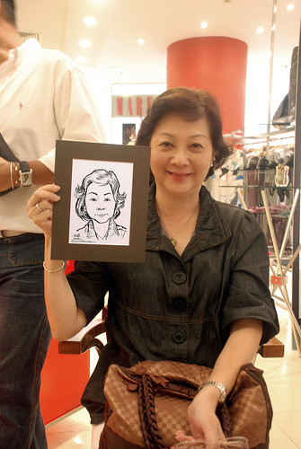 Portrait live sketching for Marella boutique - 11