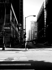 5:55 (GXM.) Tags: street shadow urban bw chicago bike contrast washington downtown raw pillar dramatic rushhour mass 5pm dearborn daleyplaza chicagoist gxm lightedpillar bwchicago